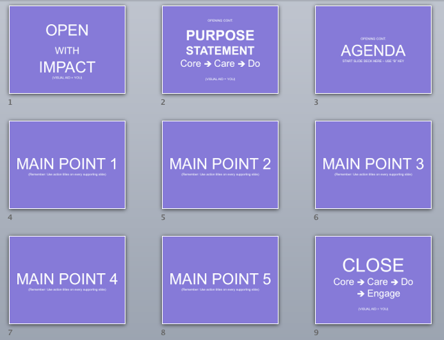 A PPT Storyboard Template to Turn Data into a Story - 2